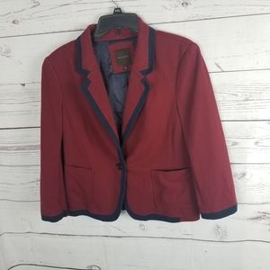 The Limited School Boy Blazer Red & Navy Large